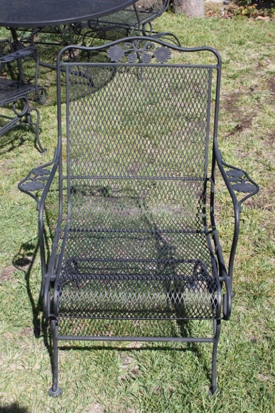 Latest Epic Wrought Iron Patio Furniture Restoration Set Of 2 Woodard With Regard To Wrought Iron Patio Rocking Chairs (View 6 of 20)