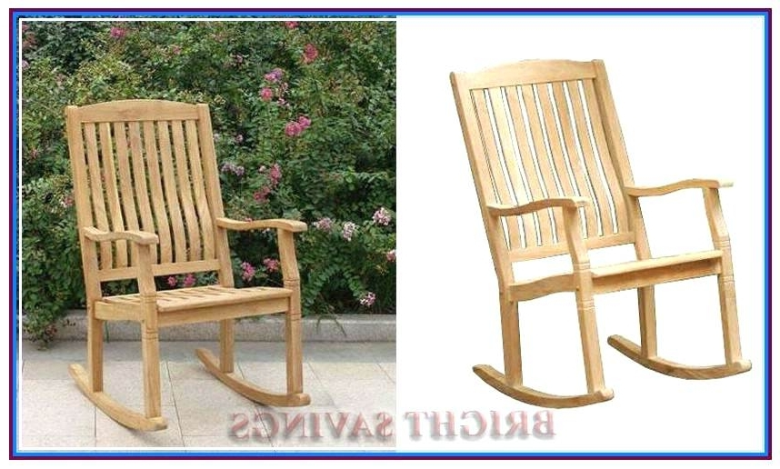 Latest Large Outdoor Wooden Rocking Chair Outdoor Wooden Rocking Chairs With Regard To Rocking Chairs At Lowes (View 9 of 20)