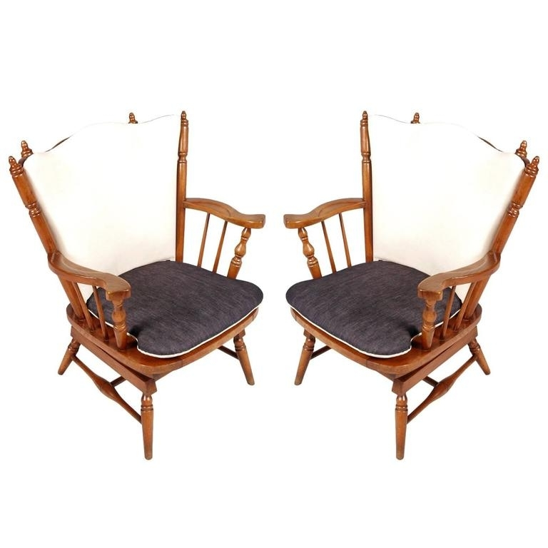 Latest Rocking Chairs With Springs With 1930S Pair Of Chestnut Chiavari Rocking Chairs With Springs For Sale (View 12 of 20)