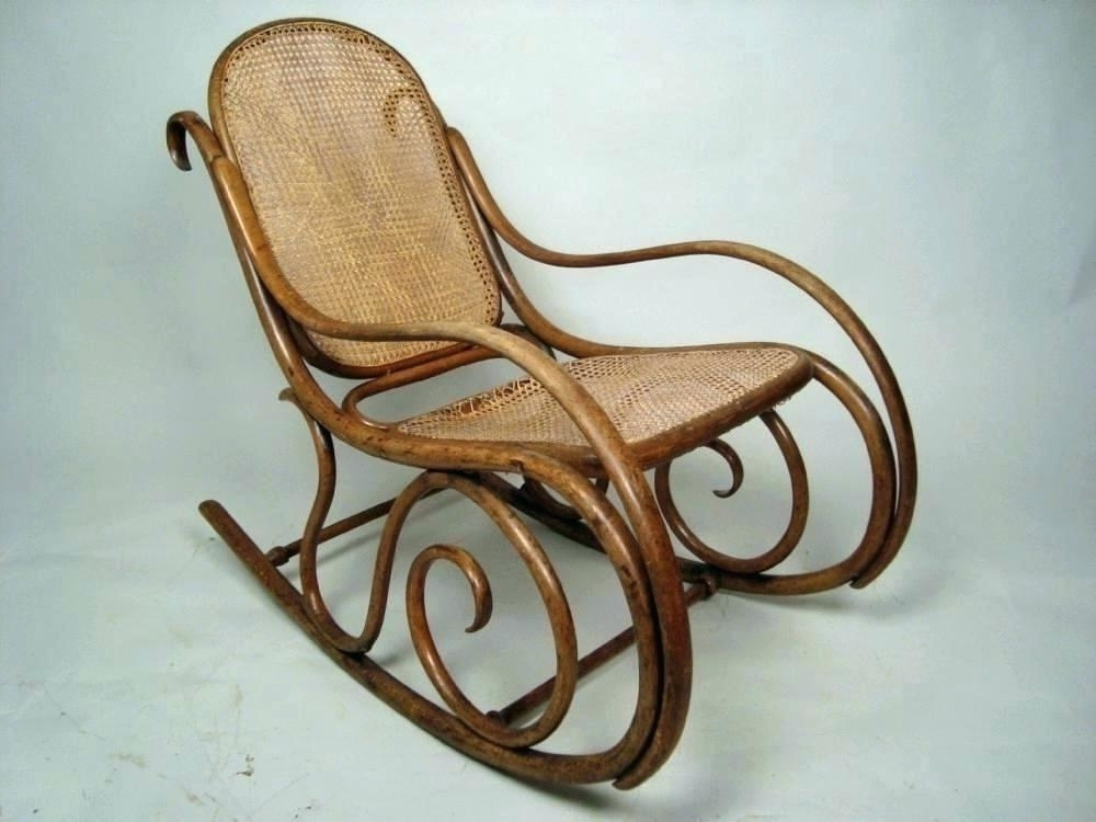 Latest Vintage Wicker Rocking Chairs For Antique Wicker Rocking Chair Antique Childs Cane Rocking Chair (View 15 of 20)