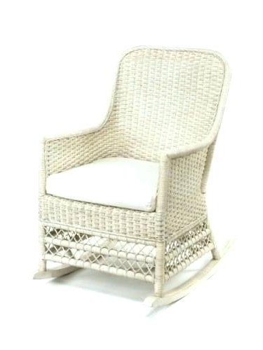 Latest White Indoor Rocking Chair Blue Wicker Rocking Chair Furniture Near Regarding Indoor Wicker Rocking Chairs (View 14 of 20)