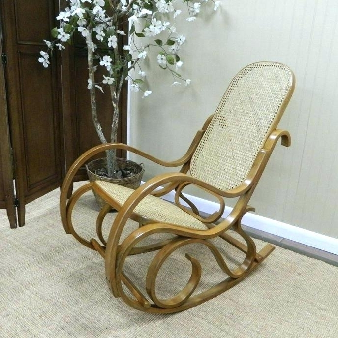 Latest Wood Rocking Chair For Nursery Small Profile – Re Blog Regarding White Wicker Rocking Chair For Nursery (View 2 of 20)