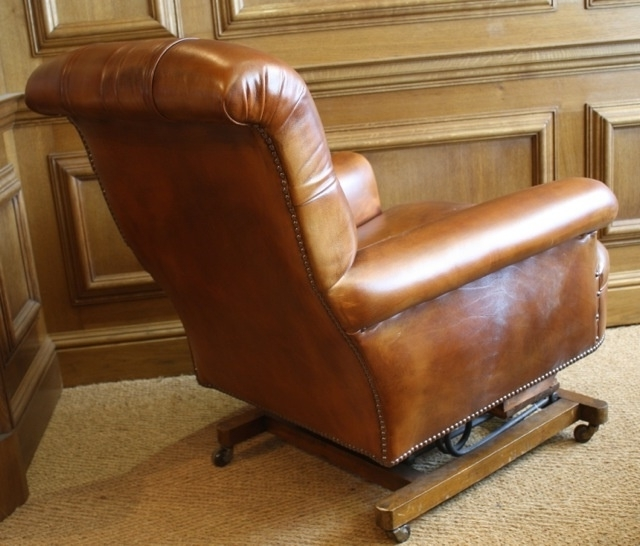 Leather Chairs Of Bath Leather Rocking Chair Victorian Leather Regarding 2017 Rocking Chairs For Adults (View 9 of 20)