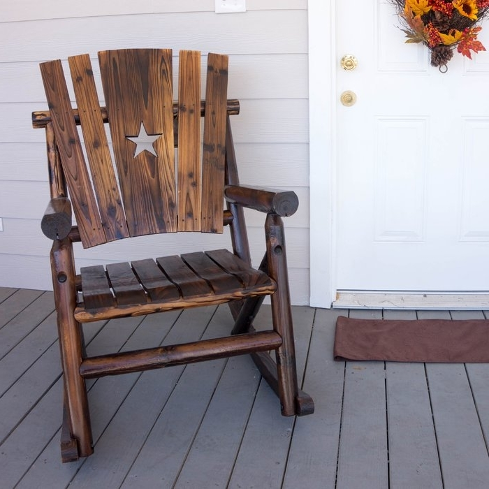 Leighcountry Char Log Star Single Rocking Chair & Reviews (View 10 of 20)