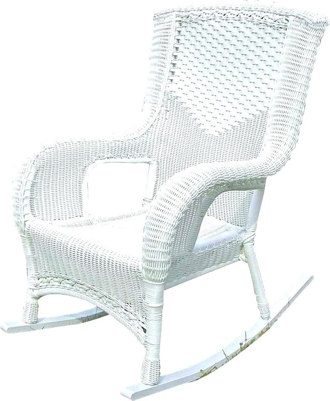 Link White Wicker Rocking Chair Walmart – Alexbonan Pertaining To Most Popular White Patio Rocking Chairs (View 8 of 20)
