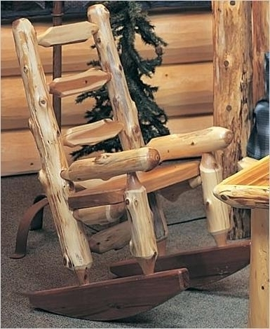 Log Rocking Chair – Salesammo Intended For Most Current Rocking Chairs At Kroger (View 5 of 20)