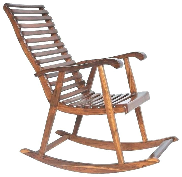 Lowes Rocking Chairs Pertaining To Famous Outdoor Wooden Rocking Chairs Foods Rocking Chair Swivel Foods (View 7 of 20)