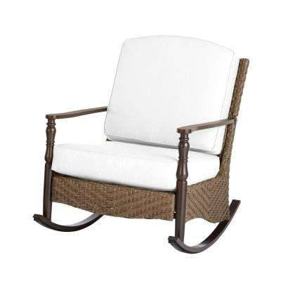 Manhattan Patio Grey Rocking Chairs With Trendy Metal Patio Furniture – Rocking Chairs – Patio Chairs – The Home Depot (View 7 of 20)