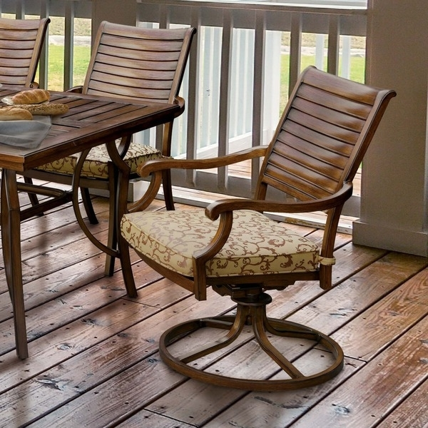 Metal Brown Cushioned Patio Rocking Chair (Set Of 2) – Free Shipping With Most Popular Outside Rocking Chair Sets (View 16 of 20)
