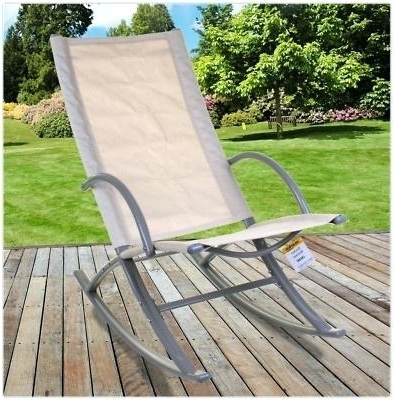 Metal Outdoor Rocking Chairs Aluminum Outdoor Rocking Chair Garden With 2018 Vintage Outdoor Rocking Chairs (View 5 of 20)