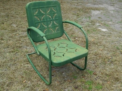 Featured Photo of Vintage Metal Rocking Patio Chairs