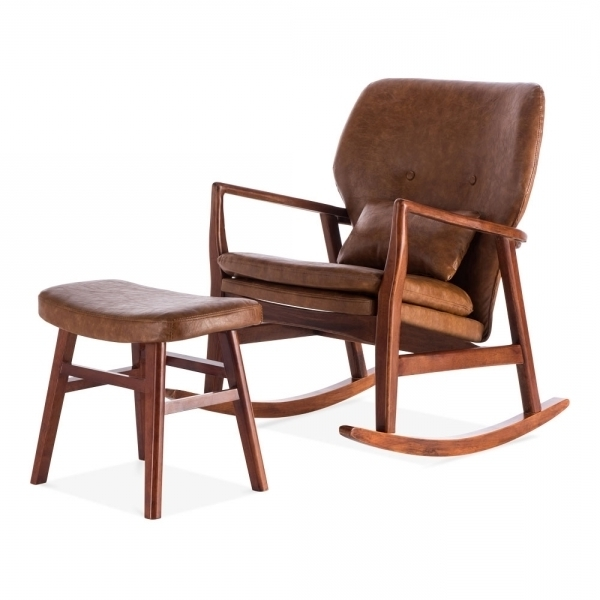 Modern Armchairs In Most Up To Date Rocking Chairs With Footstool (View 8 of 20)