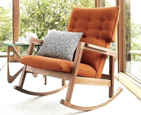 Modern Rocking Chair Designs In Contemporary Ideasdecorating Ideas Intended For 2017 Rocking Chairs For Small Spaces (View 15 of 20)