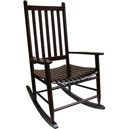 Most Current Decoration: Mainstays Outdoor Wood Rocking Chair Black Patio Regarding Patio Wooden Rocking Chairs (View 4 of 20)