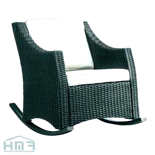 Most Current Outdoor Patio Rocking Chairs With Outdoor Furniture Rocking Chair International Caravan Wicker Resin (View 13 of 20)