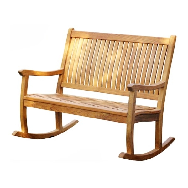 Most Current Patio Furniture Rocking Benches In Kintamani Rocking Bench – Indonesia Teak Outdoor Living Garden Patio (View 10 of 20)