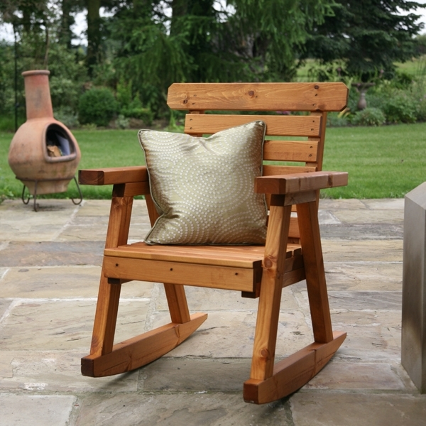 Most Current Patio: Stunning Wooden Outdoor Chairs Reclaimed Wood Outdoor Dining In Rocking Chairs For Garden (View 6 of 20)