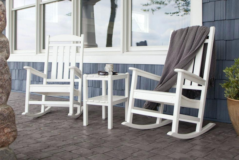 Most Current Plastic Patio Rocking Chairs Outdoor Rocking Chair Antique Pertaining To White Resin Patio Rocking Chairs (View 5 of 20)
