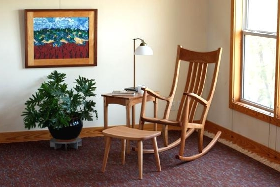 Most Current Rocking Chairs: Award Winning And Handmade, The Weeks Rocker® Inside Rocking Chairs With Footstool (View 11 of 20)