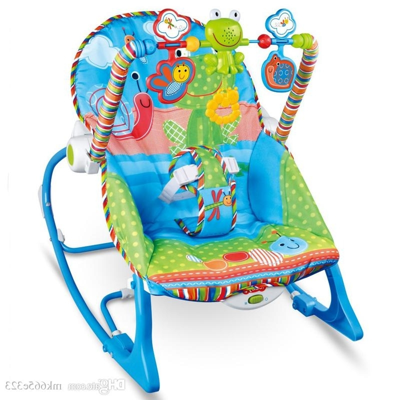 Most Current Rocking Chairs For Babies Intended For Baby Rocking Chair Musical Electric Swing Chair High Quality (View 10 of 20)