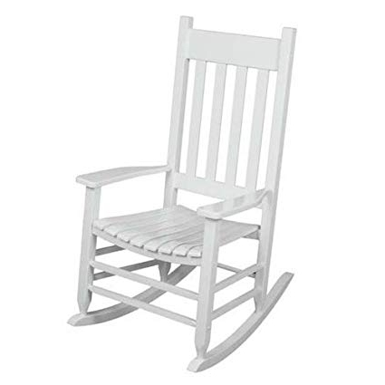 Most Current Wooden Patio Rocking Chairs Pertaining To Amazon : Outdoor Rocking Chair White The Solid Hardwood Chairs (View 10 of 20)