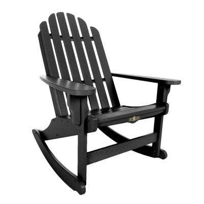 Most Popular Black Patio Rocking Chairs With Regard To Rocking – Black – Rocking Chairs – Patio Chairs – The Home Depot (View 11 of 20)