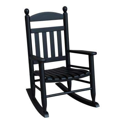 Most Popular Black Patio Rocking Chairs Within Rocking – Black – Rocking Chairs – Patio Chairs – The Home Depot (View 12 of 20)