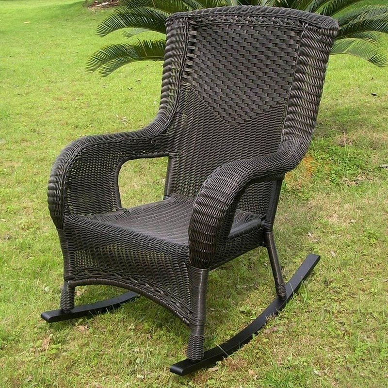 Most Popular Darby Home Co Wellington Wicker Resin Aluminum High Back Patio Intended For Aluminum Patio Rocking Chairs (View 16 of 20)