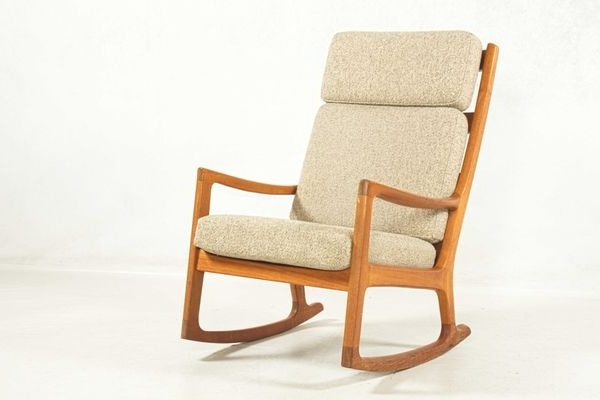 Most Popular Highback Rocking Chairole Wanscher For Peter Jeppesen, 1960S For With Regard To High Back Rocking Chairs (View 15 of 20)