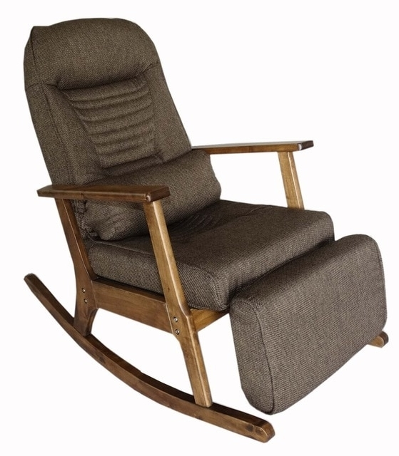 Most Popular Rocking Chairs With Footstool With Regard To Garden Recliner For Elderly People Japanese Style Armchair With (View 12 of 20)