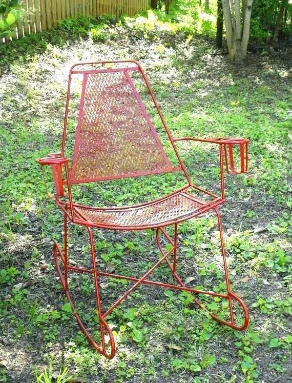 Most Popular Vintage Metal Rocking Patio Chairs In Outdoor Metal Rocking Chair Antique Metal Rocking Chair Vintage (View 8 of 20)