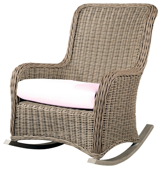 Most Popular Wicker Chairs Outdoor Rocking Star Fix The Arms Rounded For All Weather Patio Rocking Chairs (View 8 of 10)