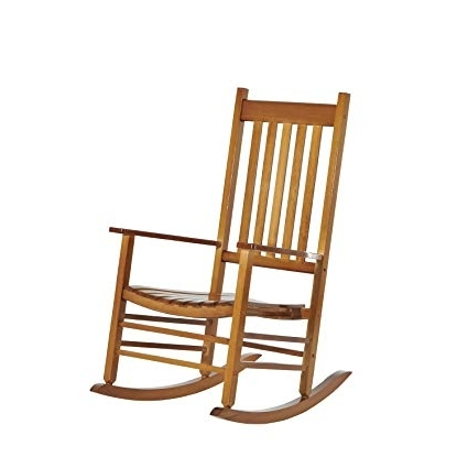 Most Recent Amazon : Outsunny Porch Rocking Chair – Outdoor Patio Wooden With Patio Wooden Rocking Chairs (View 6 of 20)