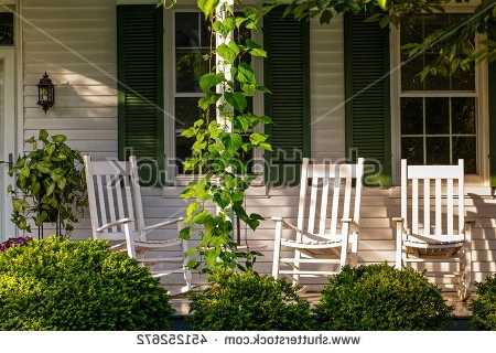 Most Recent Front Porch Rocking Chairs Stock Photo 451252672 – Shutterstock Inside Rocking Chairs For Front Porch (View 7 of 20)