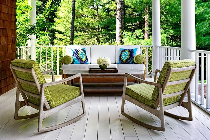 Most Recent Modern Patio Rocking Chairs With Chic Modern Porch Chairs Rocking Chairs Transitional Porch Donna (View 12 of 20)