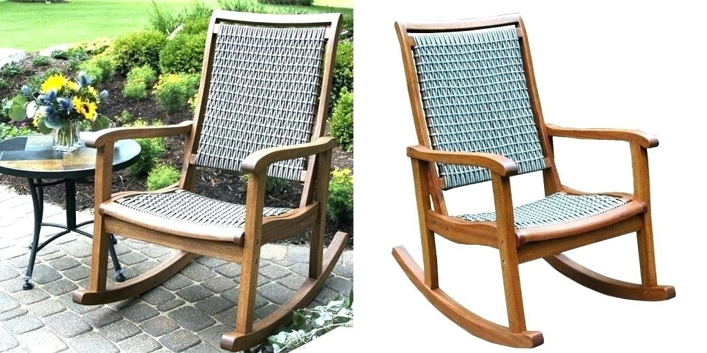 Most Recent Patio Rocking Chairs Sets Inside Patio Rocking Chair Set Swivel Rocker Sets – Rightz (View 17 of 20)
