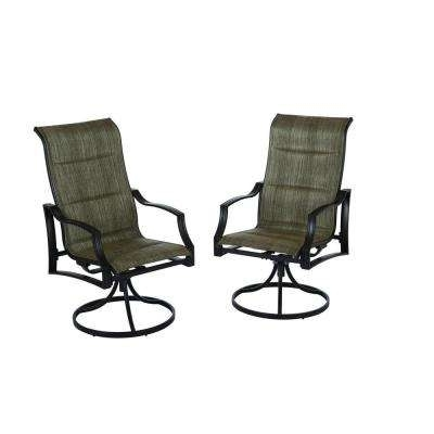 Most Recent Patio Sling Rocking Chairs With Regard To Metal Patio Furniture – Patio Chairs – Patio Furniture – The Home Depot (View 15 of 20)