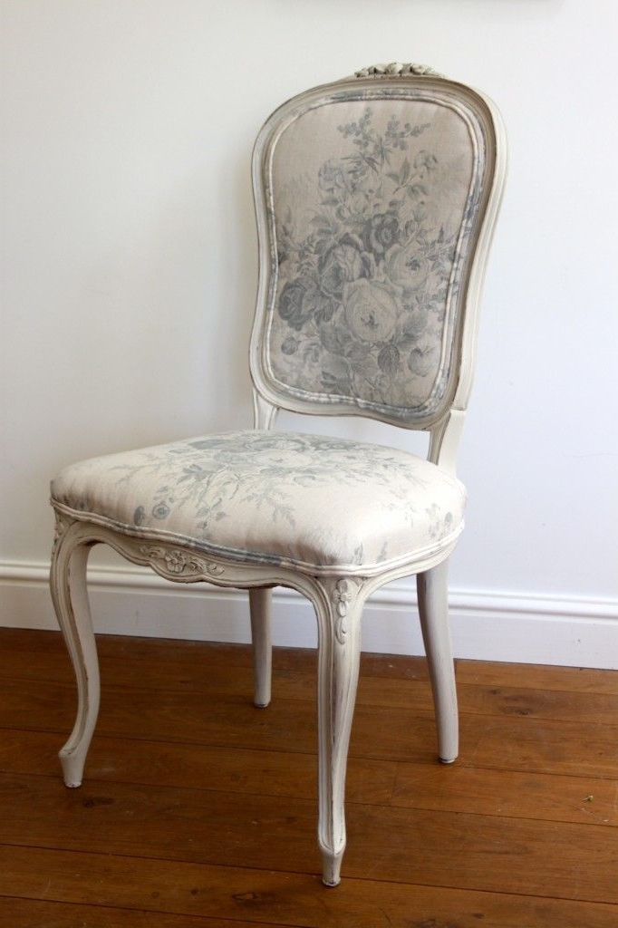 Most Recent Rocking Chairs At Roses Throughout Louis Xv Style Chair Upholstered In Kate Forman's Blue Roses (View 5 of 20)