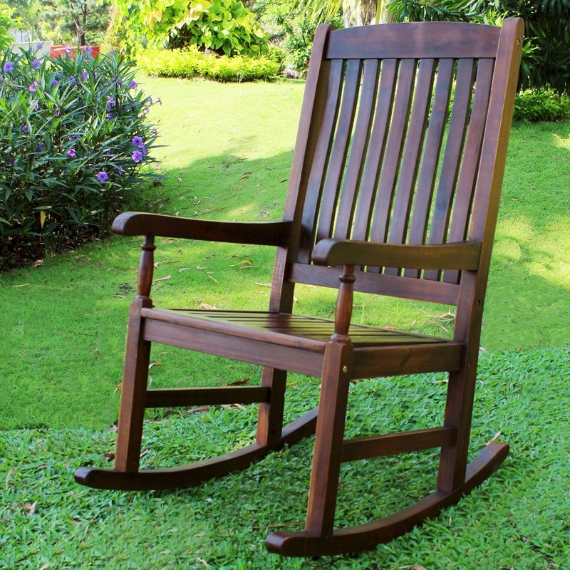 Most Recent Rocking Chairs For Garden Throughout Outdoor Wooden Rocking Chairs – Latv (View 7 of 20)