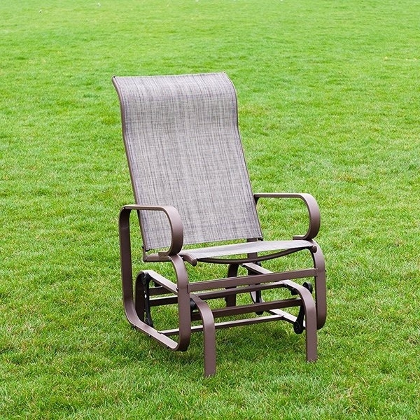 Most Recent Shop Naturefun Outdoor Patio Rocker Glider Chair, All Weatherproof With Patio Rocking Chairs And Gliders (View 11 of 20)