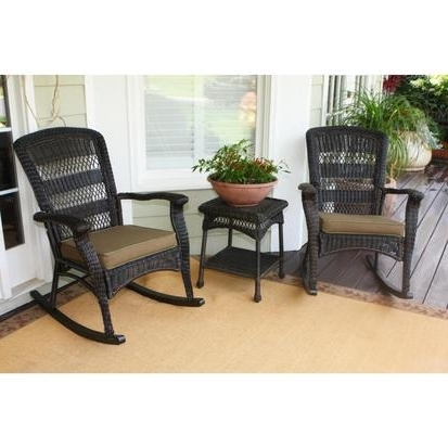 Most Recent Tortuga Plantation 3 Piece Resin Wicker Rocking Chair Set – Rocking Within Wicker Rocking Chairs Sets (View 5 of 20)