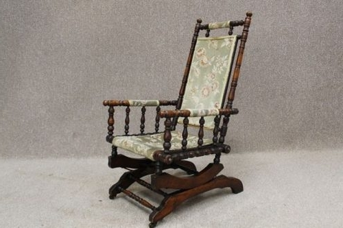 Most Recent Victorian Rocking Chair – Antiques Atlas With Regard To Victorian Rocking Chairs (View 6 of 20)