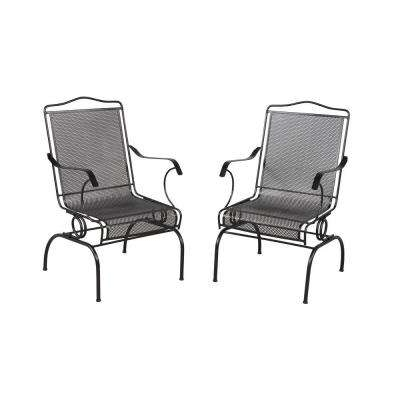 Most Recent Wrought Iron Patio Rocking Chairs Inside Hampton Bay – Rocking – Patio Chairs – Patio Furniture – The Home Depot (View 8 of 20)