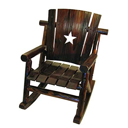 Most Recently Released Amazon : Char Log Lil' Junior Rocker Chair With Star : Patio Inside Char Log Patio Rocking Chairs With Star (View 13 of 20)