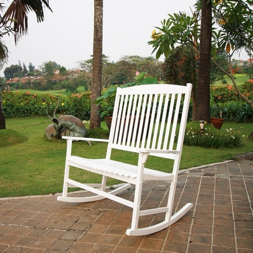 Most Recently Released Outdoor Vinyl Rocking Chairs Pertaining To Patio Furniture – Walmart (View 7 of 20)