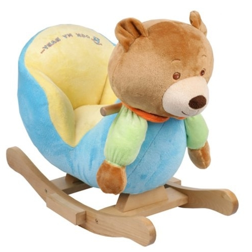 Most Recently Released Plush Bear Baby Rocking Chair Kids Toy Ride Rocker Plush Toddler (View 2 of 20)