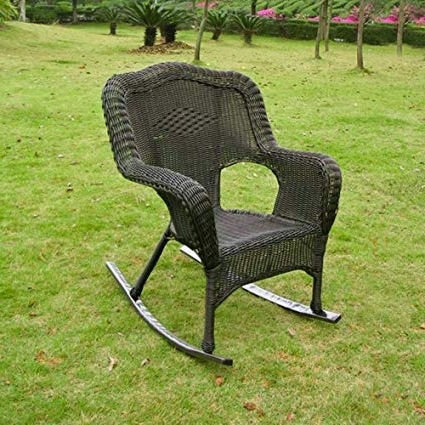 Most Recently Released Resin Patio Rocking Chairs Pertaining To Amazon : International Caravan Chelsea Wicker Resin Patio (View 12 of 20)
