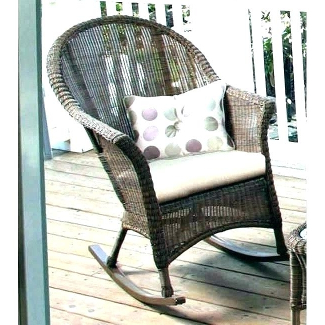 Most Recently Released Resin Wicker Rocking Chair Resin Wicker Rocking Chairs White Resin With Outdoor Wicker Rocking Chairs (View 3 of 20)