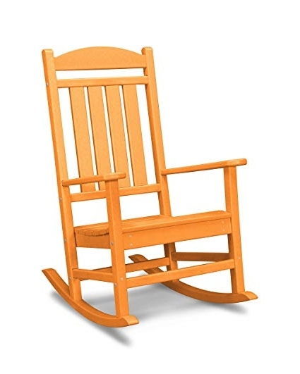 Most Recently Released Rocking Chairs For Garden Within Amazon : Polywood R100Ta Presidential Outdoor Rocking Chair (View 8 of 20)