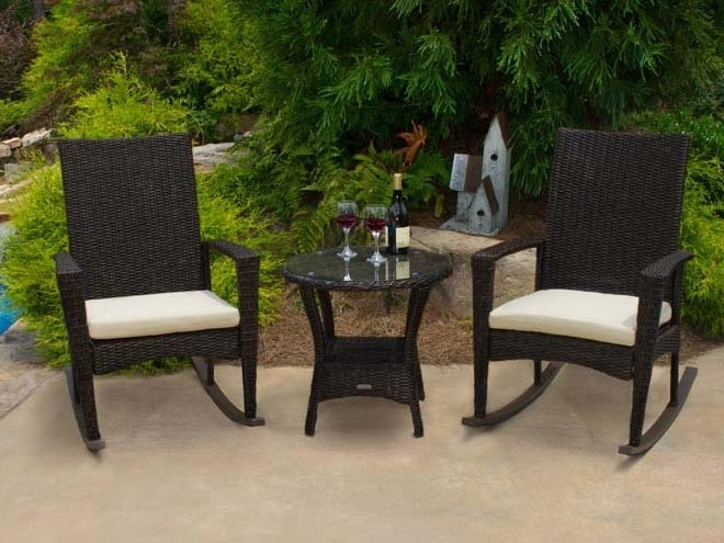 Most Recently Released Tortuga Outdoor Bayview Rocking Chair – Wicker For Outdoor Wicker Rocking Chairs (View 16 of 20)